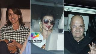 Rekha among others attend Big B - Rishi Kapoor's 102 Not Out screening