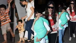 After MEETING Mom Babita, Kareena LEAVES for London with Taimur