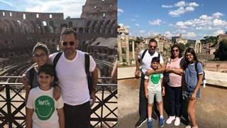 Karishma Kapoor's kids on a Roman holiday with their dad Sunjay Kapur