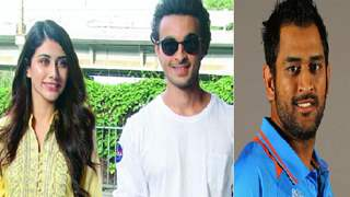 Loveratri stars Aayush and Warina get a special Invite from MS Dhoni