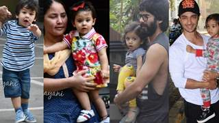 Taimur- Inaaya- Misha- Ahil look EXCITED to pose for the Papz