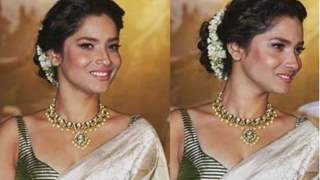 #Stylebuzz: Ankita Lokhande Looks REGAL in An Ivory Saree at MANIKARNIKA Trailer Launch!