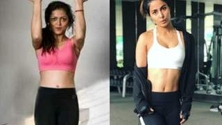 Watch: Hina Khan & Drashti Dhami's Workout Videos For The Morning Motivation!