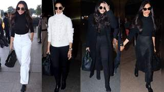 Deepika Padukone is slaying her airport looks with monochrome outfits