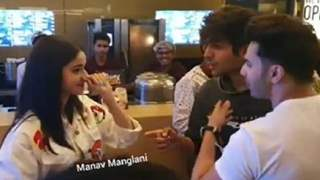 (Video) Kartik Aaryan Flirts with Ananya Panday; Varun Dhawan tries to stop him!