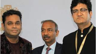A. R. Rahman, Prasoon Joshi at the India Pavilion inauguration at Cannes