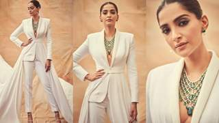 Cannes 2019: Sonam Kapoor makes a bold statement in a white Ralph and Russo suit!