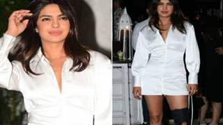 Priyanka Chopra raises oomph in a sexy white shirt dress and her mangalsutra at The Sky is Pink's wrap up party
