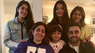Aishwarya Rai Bachchan, Abhishek Bachchan, Aaradhya and Navya pose for a perfect family picture