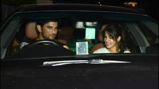 Photos Inside: Lovebirds Sushant Singh Rajput and Rhea Chakraborty step out for a date night!