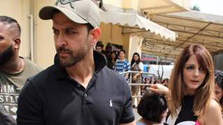Hrithik- Suzzane Spotted on a Movie Date with their Sons