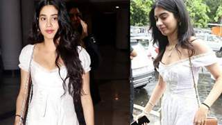 Khushi Kapoor borrows Janhvi Kapoor's white day dress
