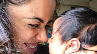 Sameera Reddy Cuddling her Newborn is the Cutest thing you'll see on net today