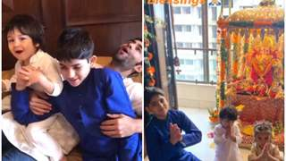 Video of Lil Taimur humming Ganpati Bappa Morya is Breaking the Internet with oomphs of Cuteness