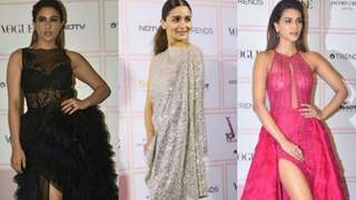Sara bewitched in black, Alia sparkled in silver while Kriti popped in pink at Vogue Beauty Awards 2019