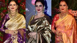 Celebrating Rekha and her love for extravagant silk sarees on her birthday today!