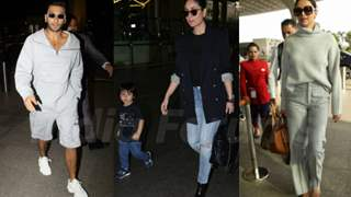 From Ranveer's subtle outfit to Taimur's cute style, Bollywood airport looks of the week
