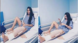 Nityaami Shirke Undergoes a Leg Surgery & Has Another Knee Brace On