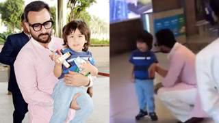 Lil Taimur Breaks Down at Airport and it will Break your Heart to see him Crying!