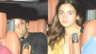 Ranbir Hides his Face as he arrives with Alia at Rani's Star Studded House Party; Bruised Lip or Another Reason behind this?
