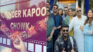 Sonam, Anil and Arjun Kapoor seem elated as a chowk in Mumbai gets named after their grandfather