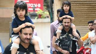 Taimur Injured himself, Daddy Saif Carried him home on his shoulders