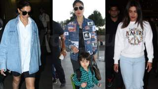 From Deepika's double denim look to Kareena's sustainable ways: Style Hits And Misses from the airport this week