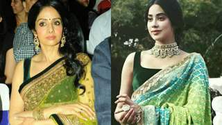 Times When Birthday Girl Janhvi Kapoor Rehashed Sridevi Saree Style Moments