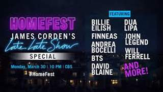 James Corden hosts Late Late Show: Homefest with BTS, Billie Eilish and more