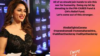 Madhuri Dixit Contributes to PM-Cares Fund Amid COVID-19 outbreak; Urges fans to Join Hands to win this war against Humanity!