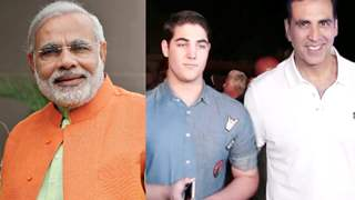 PM Narendra Modi pulls Akshay Kumar's Son Aarav's Ear; their Candid picture goes Viral!