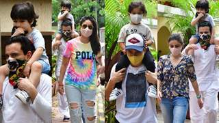 Taimur's Mask Broke But he Still Made Sure to Cover his Mouth; Pataudi and Khemu Family Catch Up to Enjoy their Sunday: Photos Below