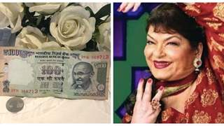Nisha Rawal shares a Beautiful memory with Saroj Khan; Reveals picture of 101 rs given to her & Karan by the Choreographer!
