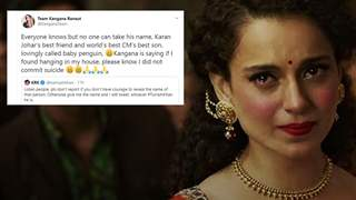 """Now if I'm Found Hanging in My House, Please Know I did Not Commit Suicide"" Kangana Ranaut"