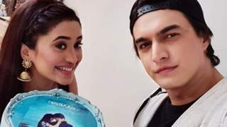 Shivangi Joshi and Mohsin Khan are all smiles as they celebrate the success of their music video 'Baarish'