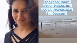 Divyanka Tripathi calls out Indians for throwing pooja residue in the oceans as she spots a man doing so