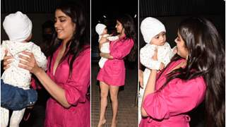 Janhvi Kapoor invites assistant's family for Roohi screening; see her adore his baby!