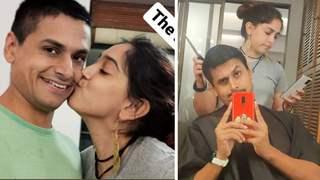 Ira Khan kisses boyfriend Nupur Shikhare after giving him a cool haircut: Photos