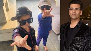 Karan Johar's twins Yash and Roohi, nail the 'yo' pose; Check out the 'super cool' picture!