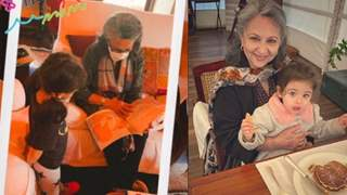 It's storytime for little Inaaya: grandma Sharmila Tagore reads her a book; see picture!