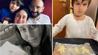 Photo: Taimur introduces his baby brother in his family-shaped cookies, Kareena cheers 'favourite boys'