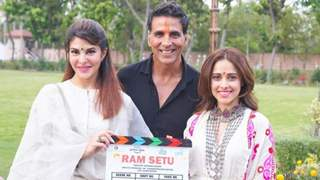 Ram Setu: Akshay Kumar, Jacqueline Fernandes and Nushrratt Bharuccha in Ayodhya for the mahurat shot