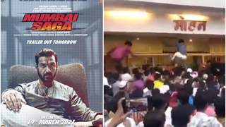 John Abraham's Mumbai Saga screening stormed by wild crowd of film lovers; Watch video