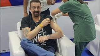 Sanjay Dutt has a priceless reaction as he receives the first dose of Covid-19 vaccine; see picture!