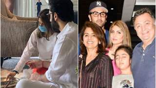 Ranbir Kapoor, Riddhima Kapoor perform pooja for late father Rishi Kapoor on his 11 month prayer meet; See pic