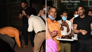 Fans touch Ajay Devgn's feet at birthday celebrations, His reaction is unmissable