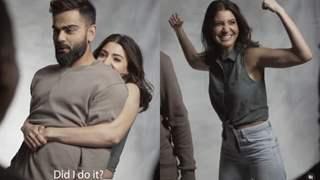 Anushka Sharma sweeps Virat Kohli off his feet, literally; Shares goofy BTS video from a shoot!
