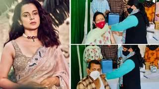 Kangana Ranaut's parents take 2nd dose of COVID Vaccine; Says 'No fever, no symptoms'