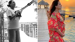 Pregnant Dia Mirza works out at home; Aces weight training and yoga in inspiring video