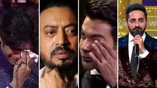 Video: Babil Khan cries uncontrollably, Rajkummar-Ayushmann in tears as late Irrfan Khan awarded